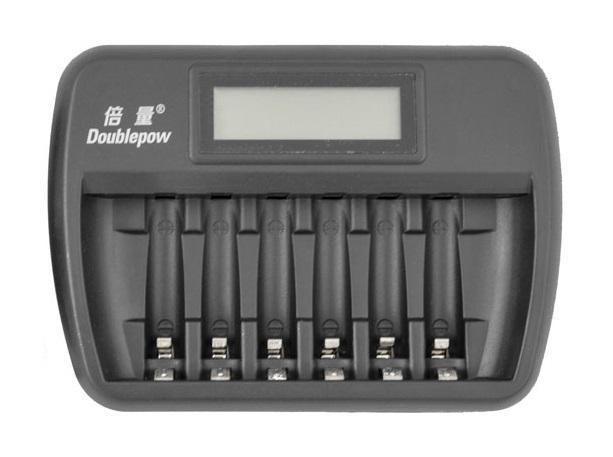 OXE Nabíječka baterií AA na 6 ks, s displejem a 8 ks nabíjecích baterií Varta 56706 R6 2100mAh NIMH basic